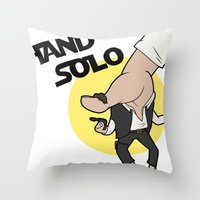 Hand Solo Throw Pillow