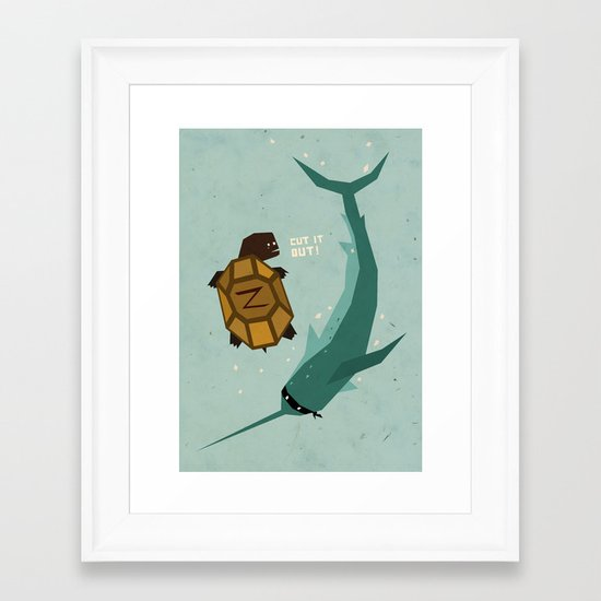 T is for Turtle Framed Art Print