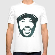 C' White Mens Fitted Tee SMALL