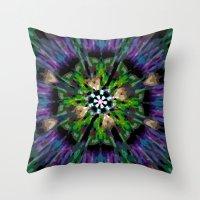 Internal Kaleidoscopic Daze-8 Throw Pillow