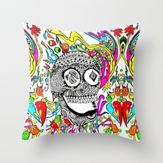 The Candy Skull Throw Pillow