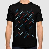 Herringbone Black And Bl… Mens Fitted Tee Black SMALL