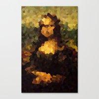 Pixelated Mona Lisa Canvas Print