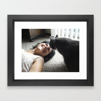 Morty's Kiss Framed Art Print