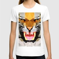 Tiger - Geo Womens Fitted Tee White SMALL