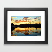 Uncaged Sunset Framed Art Print