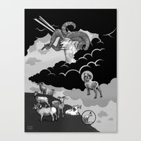 Goat Mountain / The Birth of Light Canvas Print