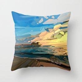 Throw Pillow - summer beach 1 - Bekim ART