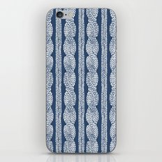 Cable Knit Navy iPhone & iPod Skin