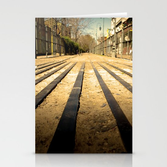 Train Line Stationery Card