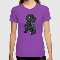 Baby Godzilla Womens Fitted Tee Ultraviolet SMALL