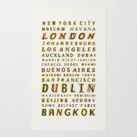 Travel World Cities Rug