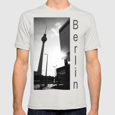 Berlin Mens Fitted Tee Silver SMALL