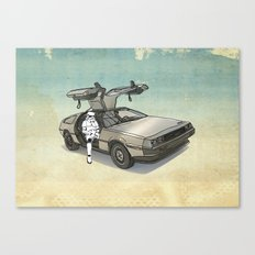 Stormtrooper in a DeLorean - waiting for the car club Canvas Print