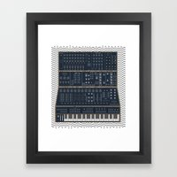 Modular Synth Framed Art Print