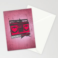 Stereo Hearts Stationery Cards