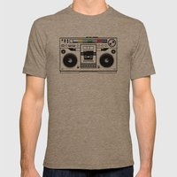 1 kHz #1 Mens Fitted Tee Tri-Coffee SMALL