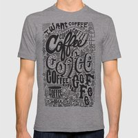 COFFEE COFFEE COFFEE! Mens Fitted Tee Athletic Grey SMALL