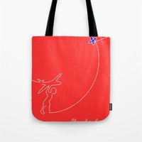 Tote Bag featuring Fly higher by Inspire me Print