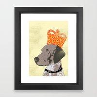 German Shorthaired Pointer Dog Framed Art Print