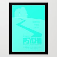 Alfred Hitchcock's Psych… Art Print