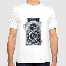Flexaret Vinatge Camera White Mens Fitted Tee SMALL
