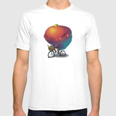Bike Monster 2 Mens Fitted Tee White SMALL