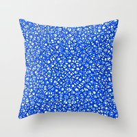 staklo (blues) Throw Pillow