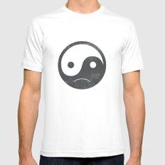 yin yang smiley ;-( White Mens Fitted Tee SMALL