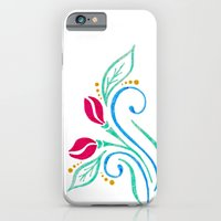 Abstract tulip motif iPhone 6 Slim Case