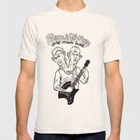 One man band Mens Fitted Tee Natural SMALL