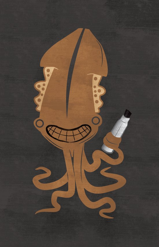 Squid Marker Art Print
