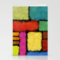 Tracks of colors Stationery Cards