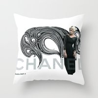 Chanel Ad Bomb By The Do… Throw Pillow
