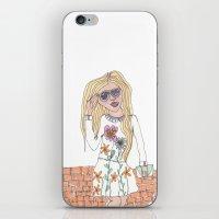 Girl On A Wall iPhone & iPod Skin