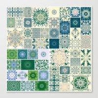 Spring pale Oriental rug Canvas Print