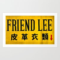Friendly in Korea Art Print