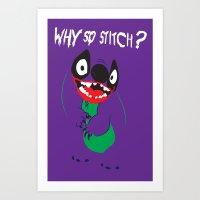 Why So Stitch? Art Print
