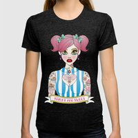 Sticky and Sweet Womens Fitted Tee Tri-Black SMALL