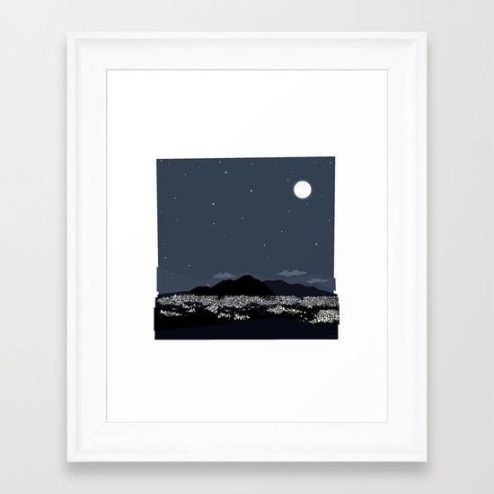 Caracas City at Night by Friztin Framed Art Print