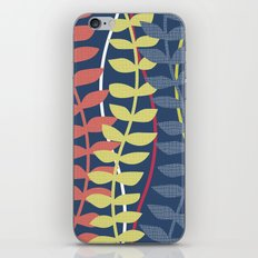 seagrass pattern - blue red yellow iPhone & iPod Skin