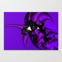 Purple And Blue Fractal … Canvas Print