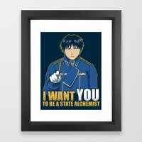 I Want You To Be A State… Framed Art Print