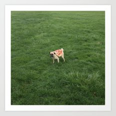 Pizza Pug 3 Art Print