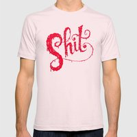 Shit Mens Fitted Tee Light Pink SMALL