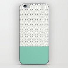 Mint and black spot iPhone & iPod Skin