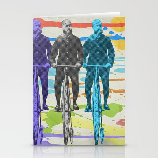 Penny Farthing Stationery Card