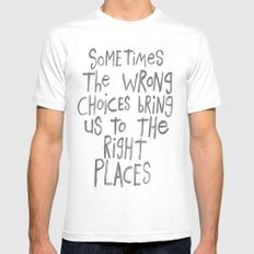 SOMETIMES SMALL White Mens Fitted Tee