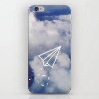 Paper Plane iPhone & iPod Skin