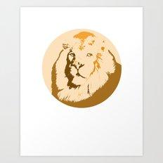 Noble Lion Totem Portrait Art Print